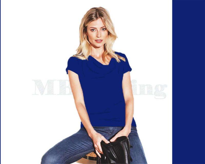 Estate Blue Slippely shirt, Slippely shirt, Slippely shirt kapmouwtje, Slippely viscose shirt, Slippely viscose shirt kapmouwtje, Estate Blue Slippely shirt SL 02663, Slippely shirt korte mouw viscose SL 02663 - Estate Blue