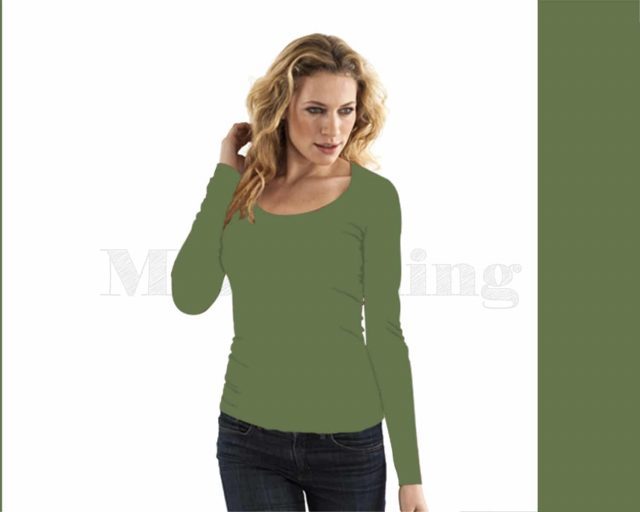 Slippely shirt lange mouw viscose 17730 Dill