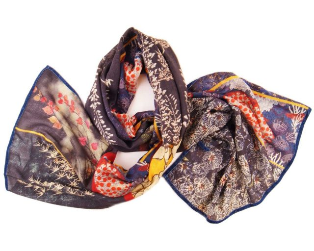 Shawl Silkroute wol Vy