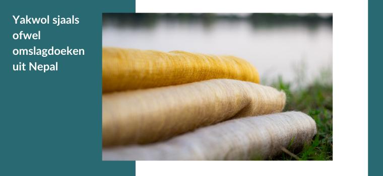 Yakwol sjaal ofwel omslagdoek uit Nepal