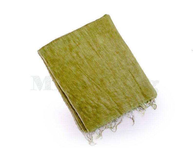Sjaal Yakwol Effen Shawl - Kiwi Groen