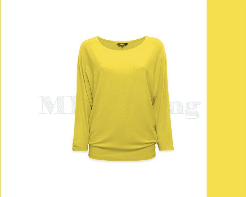 Slippely shirt driekwart mouw viscose 17063 Illuminating (geel)