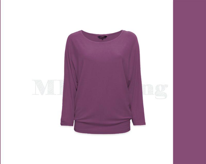 Slippely shirt driekwart mouw viscose 17063 Amathyst (lila)