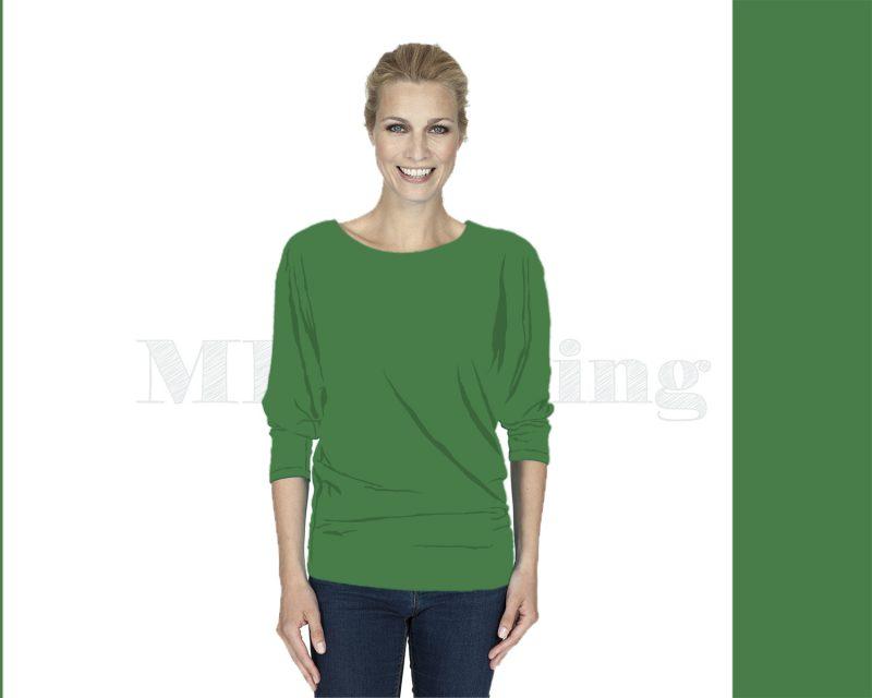 Slippely shirt driekwart mouw viscose 17063 Mint Green