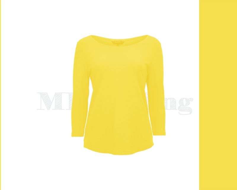 Slippely shirt driekwart mouw crêpe viscose 17067 Illuminating