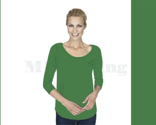 Slippely shirt driekwart mouw viscose 17067 Mint Green