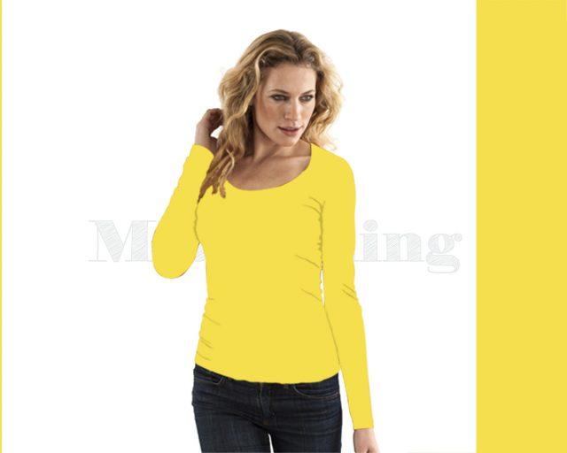 Slippely shirt lange mouw viscose 17730 Illuminating