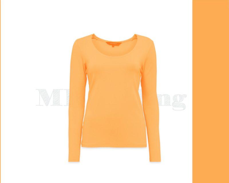 Slippely shirt lange mouw viscose 17730 Marigold