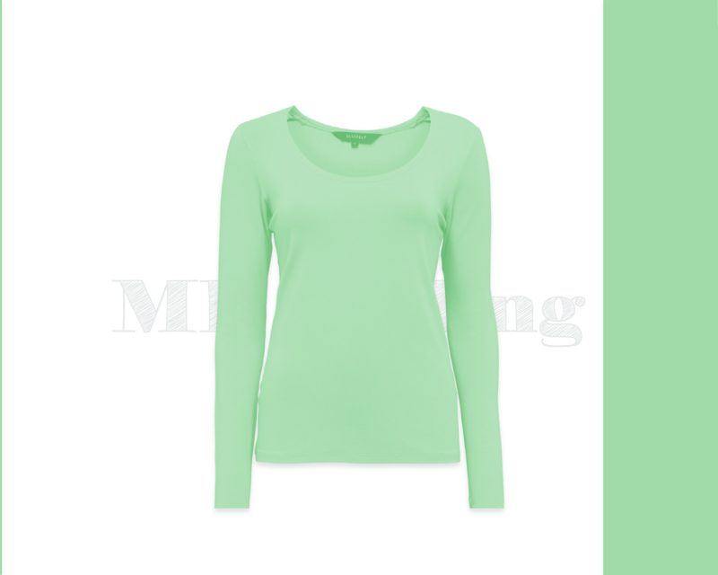 Slippely shirt lange mouw viscose 17730 Green Ash