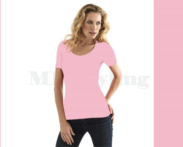 Slippely shirt korte mouw viscose 17732 Orchid pink