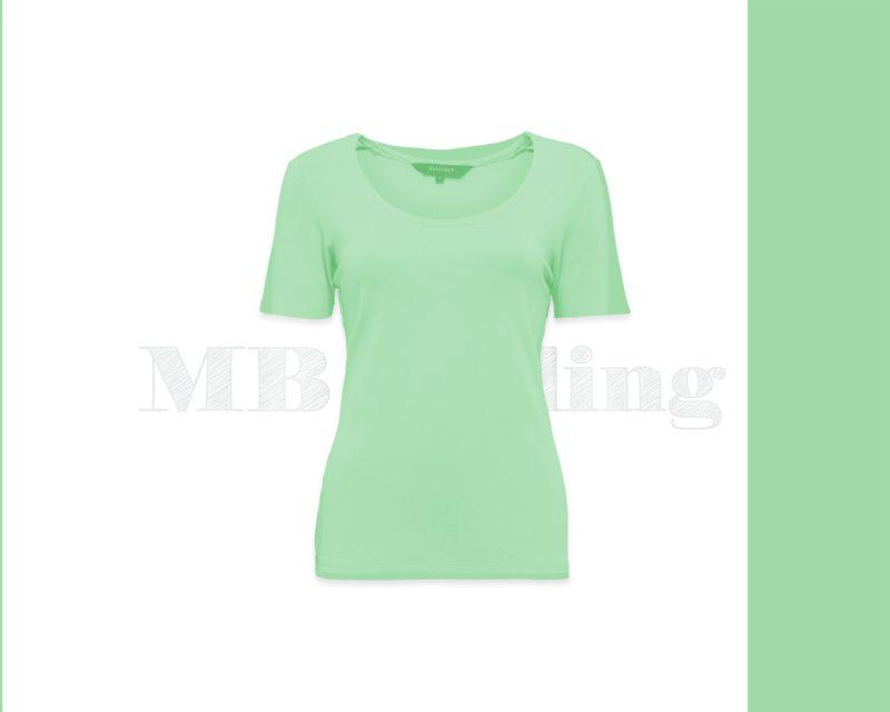 Slippely shirt korte mouw viscose 17732 Green Ash