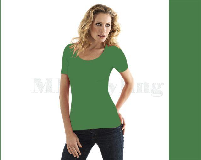 Slippely shirt korte mouw viscose 17732 Mint Green
