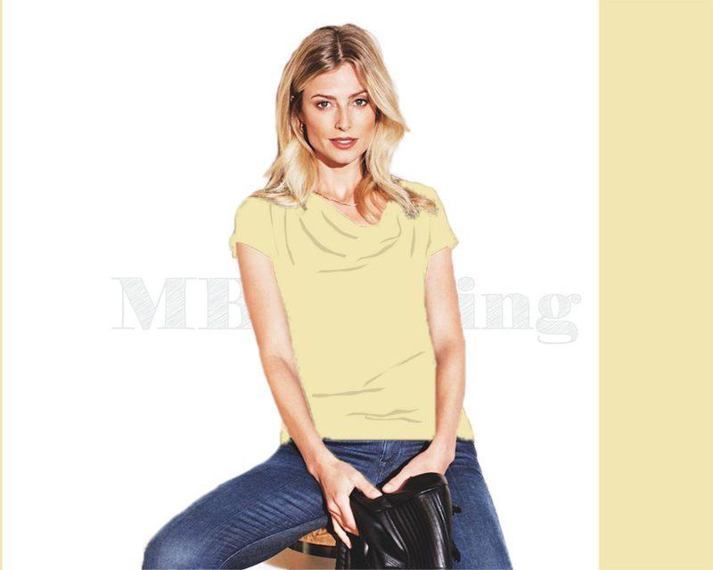 Slippely shirt korte mouw viscose SL 02663 - Pastel Yellow