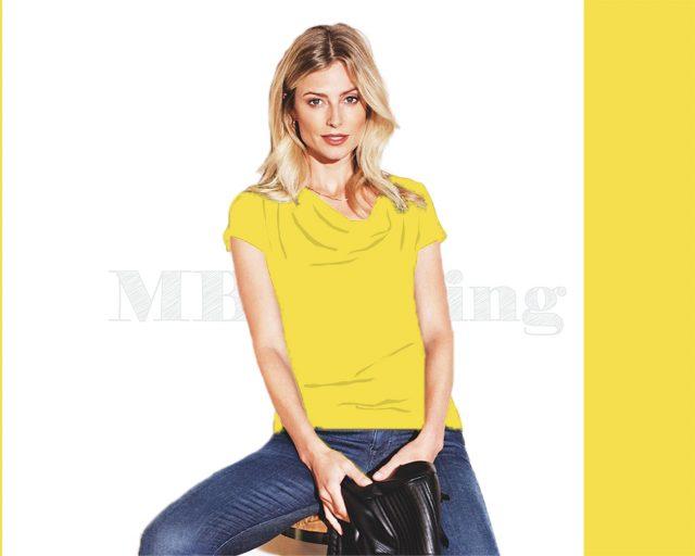 Slippely shirt korte mouw viscose SL 02663 - Illuminating (geel)