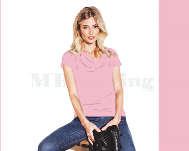 Slippely shirt korte mouw viscose SL 02663 - Orchid Pink