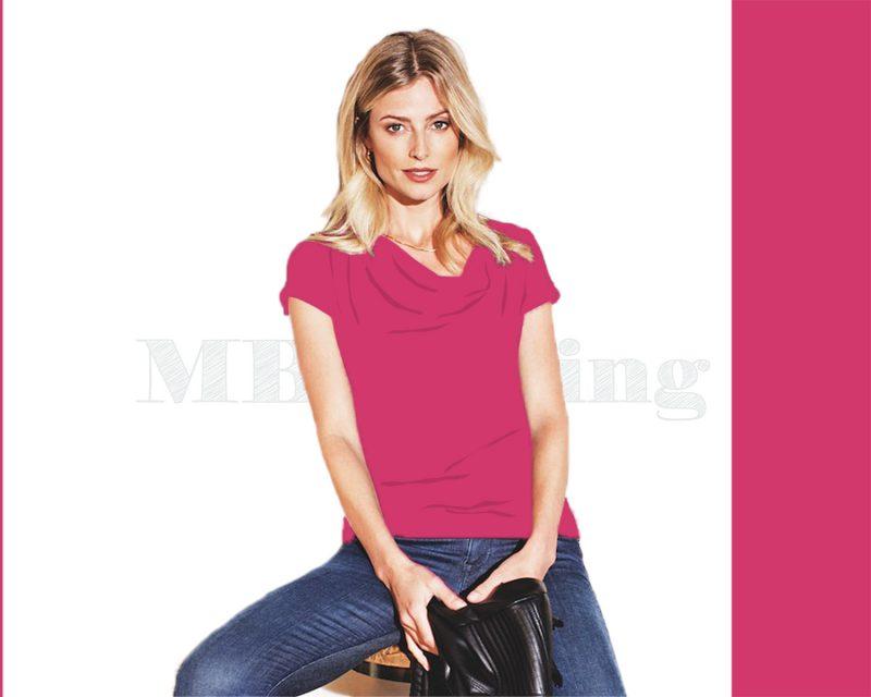 Slippely shirt korte mouw viscose SL 02663 - Raspberry sorbet