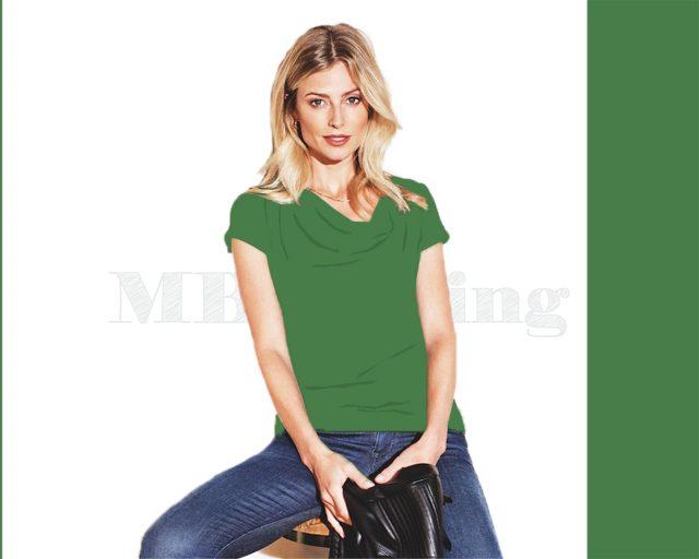 Slippely shirt korte mouw viscose SL 02663 - Mint Green