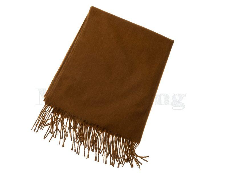 Shawl-katoen-viscose-wol-effen-camel