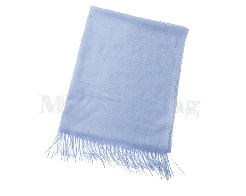 Shawl-katoen-viscose-wol-effen-licht-blauw