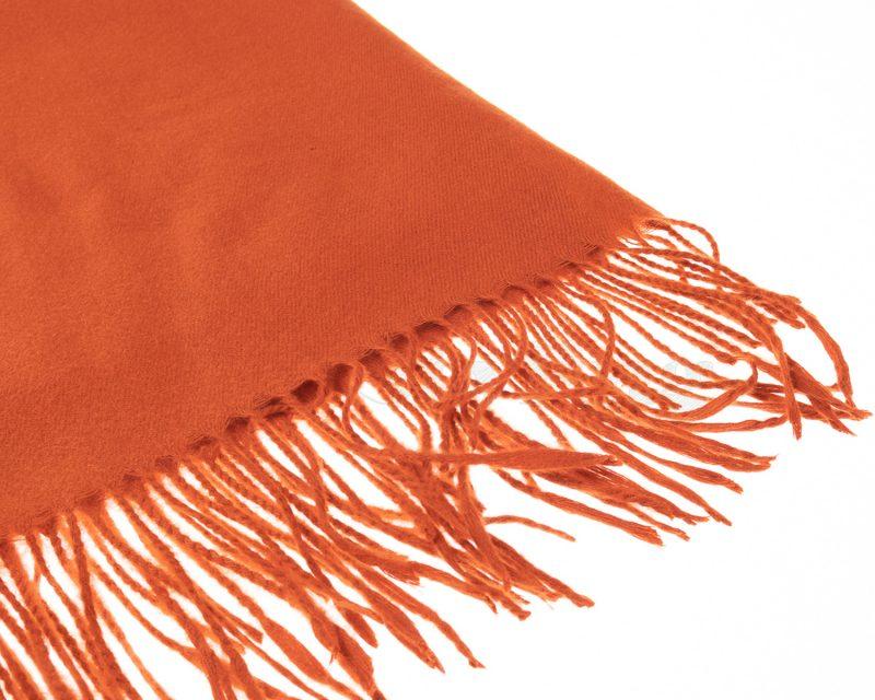 Shawl-katoen-viscose-wol-effen-oranje
