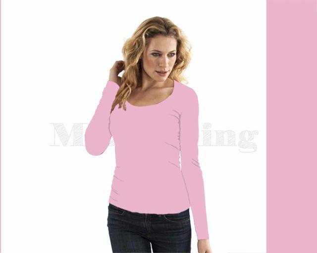 slippely-shirt-lange mouw-17730-rose-petal