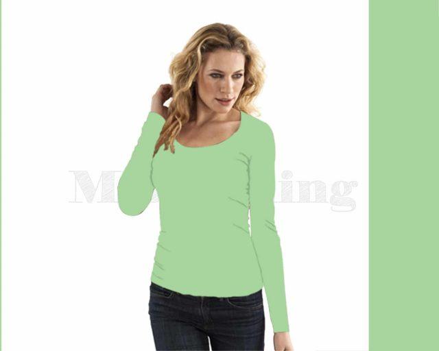 slippely-shirt-lange mouw-17730-pistache