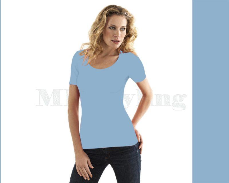 slippely-shirt-korte mouw-17732-Baby-Blue