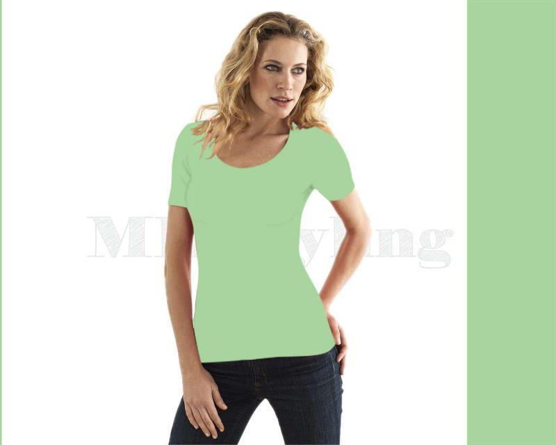 slippely-shirt-korte mouw-17732-pistache