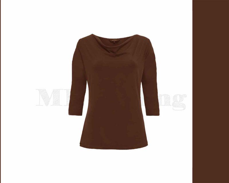 slippely-shirt-2663L-Dark brown