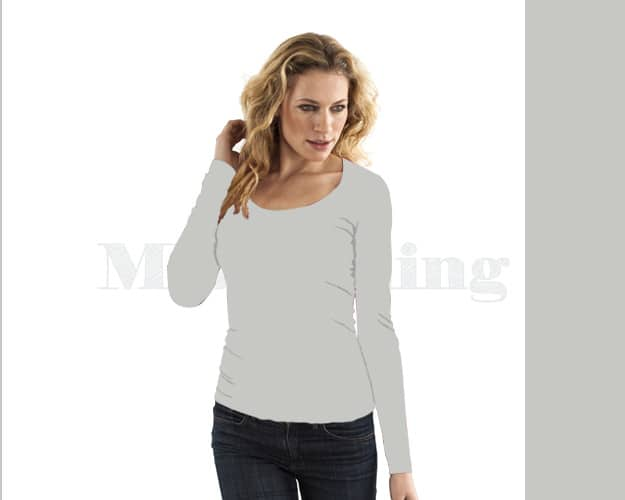 slippely-shirt-lange mouw-viscose-17730-silver