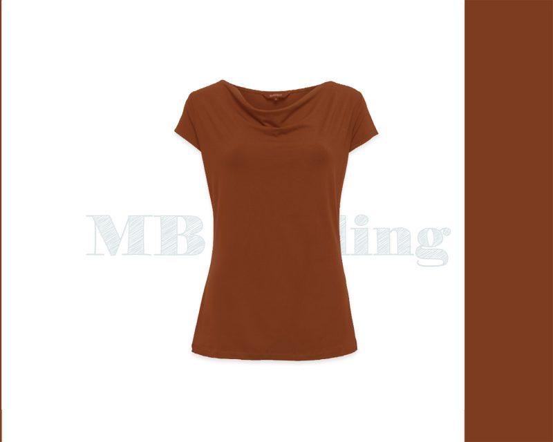 Slippely shirt korte mouw viscose SL 02663 - Caramel